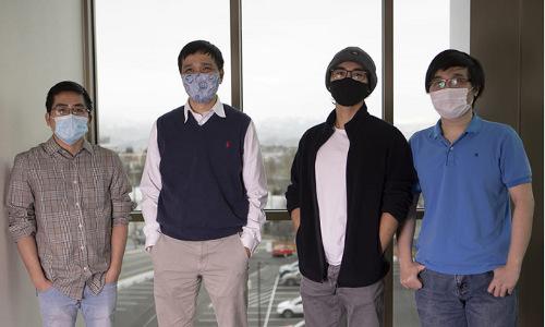 University of Nevada, Reno researchers (from left) Bang Tran, Tin Nguyen, Hung Nguyen, and Duc Tran.